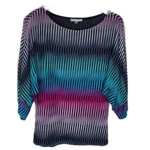 Alberto Makali shiny 80s inspired tunic top
